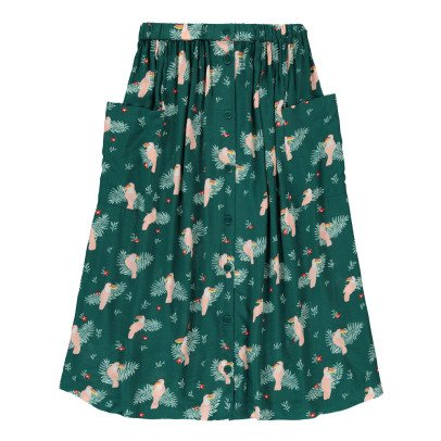 Des petits hauts Enry Toucans Button-Up Maxi Skirt-listing