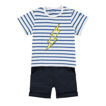 Zadig & Voltaire Gestreiftes T-Shirt + Shorts Blitz -listing