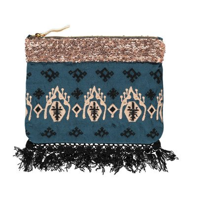Louise Misha Olvera Sequin Linen and Cotton Pouch - Women's Collection-listing
