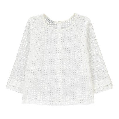 La Petite Française Légende Blouse in Broderie Anglaise-listing