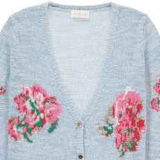Simple Kids Aimée Flower Embroidered Cardigan-listing