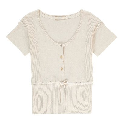 Sessun Ribby Button Up Short Sleeve Jumper-listing