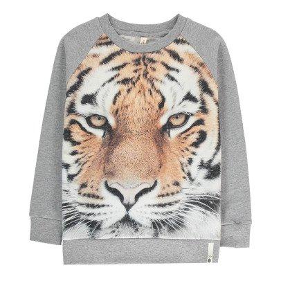 POPUPSHOP Sweatshirt Tiger aus Bio-Baumwolle -listing