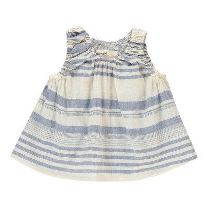 Boy + Girl Poppy Linen and Organic Cotton Striped Top-listing