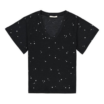 Sessun T-shirt Collo V Pois -listing