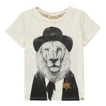 Soft Gallery Bass Lion Sheriff Flecked T-Shirt-listing