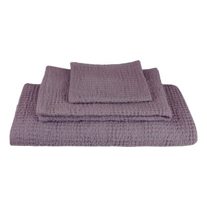 Numero 74 Set de 3 toallas de baño en nido de abeja-listing