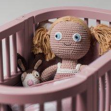 Sebra Cama para muñeca de madera-listing
