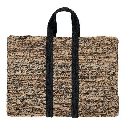 Soeur Suitcase Striped Raffia Bag-product