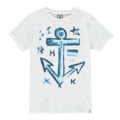 Scotch & Soda Aquarelle Ancre T-Shirt-listing