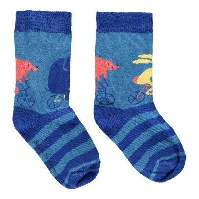 Paul Smith Junior Gestreifte Socken Tiere Nivio -listing
