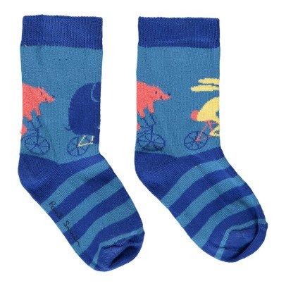 Paul Smith Junior Nivier Animal Striped Socks-listing