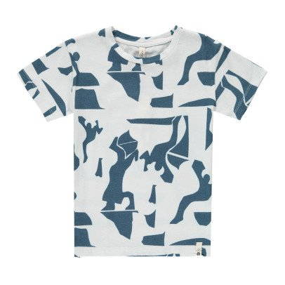 POPUPSHOP Organic Cotton Graphic Loose T-Shirt-listing