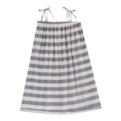 Boy + Girl Lagoon Striped Dress with Braces-listing