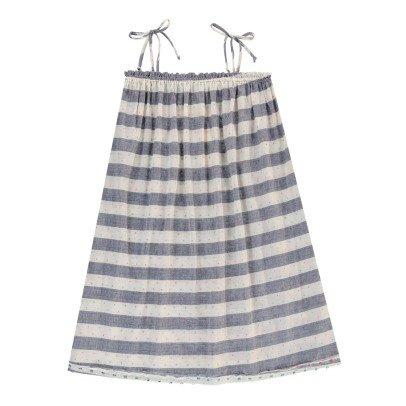 Boy + Girl Vestido Tirantes Rayas Lagoon-listing