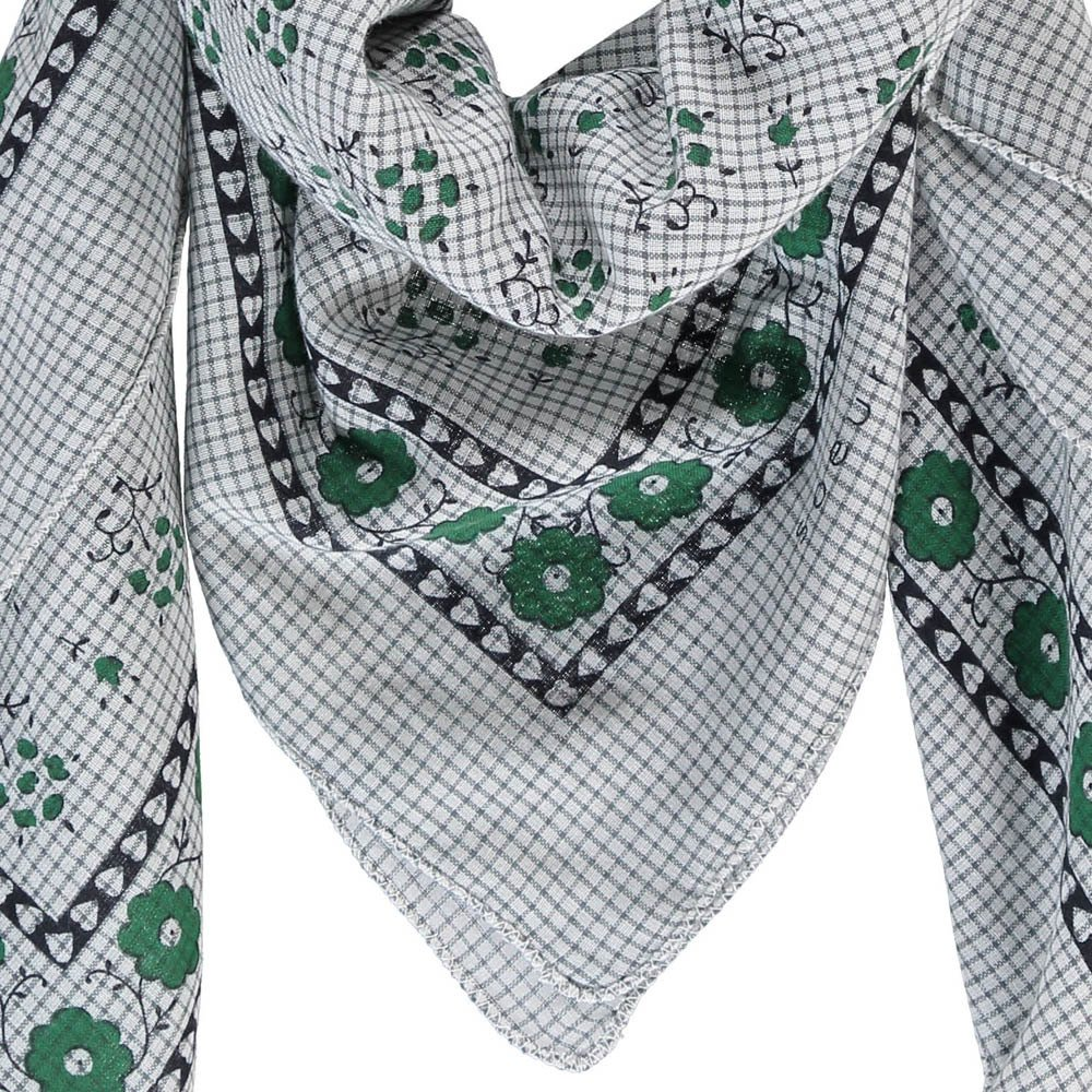 Flower Checked Cotton Scarf-product