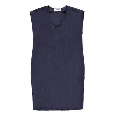ANECDOTE Vestido Cuello V Cupro Dacey-listing