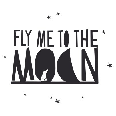 MIMI'lou Sticker Fly me to the moon	-listing