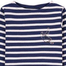 Maison Labiche Gorilla Embroidered Marinière Navy blue-listing