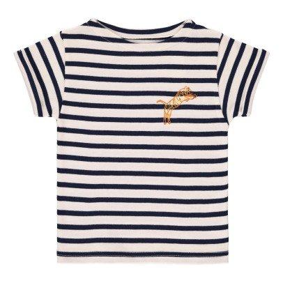 Maison Labiche T-Shirt Brodé Rayé Tigre-listing