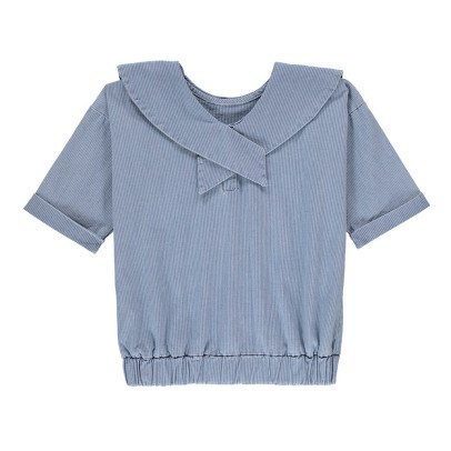 Yellowpelota Maglia Chambray Righe-listing