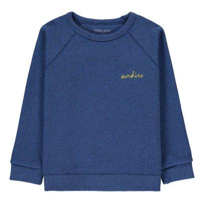 Maison Labiche Sweatshirt Sunshine bestickt  Blau-listing