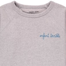 Maison Labiche Suéter Bordado Jaspeado Infantil Terrilbe Azul Pálido-listing