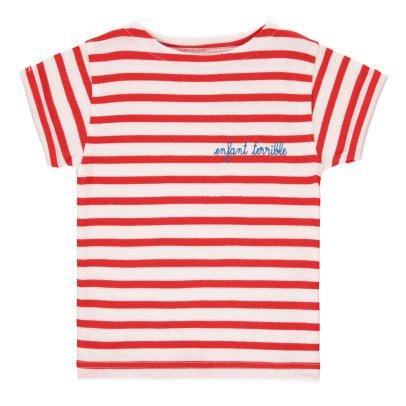 Maison Labiche T-Shirt Brodé Rayé Enfant Terrible-listing