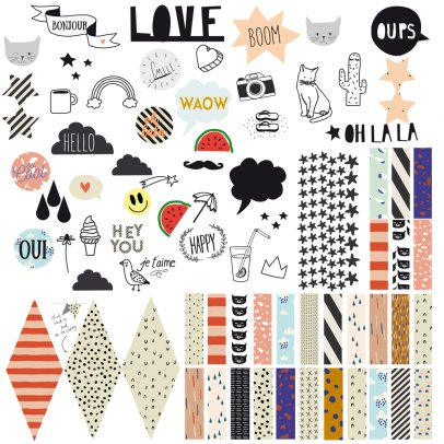 MIMI'lou Happy Pin Board Sticker-listing