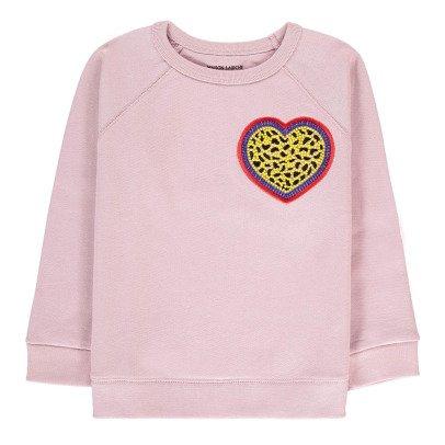 Maison Labiche Sweatshirt Herz  Blassrosa-listing