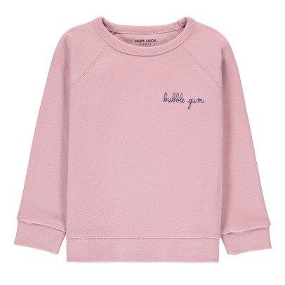 Maison Labiche Bubble Gum Embroidered Sweatshirt Pale pink-listing