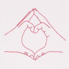 Maison Labiche T-Shirt Handbestickt Love  Weiß-listing