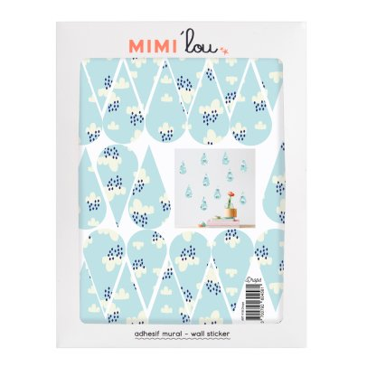 MIMI'lou Just A Touch Rain Drop Sticker-listing