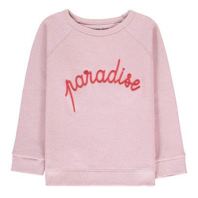 Maison Labiche Sweatshirt Paradise bestickt  Blassrosa-listing