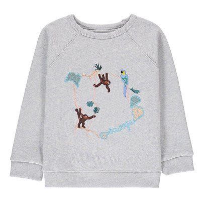 Maison Labiche Sweat Brodé Chiné Jungle -listing