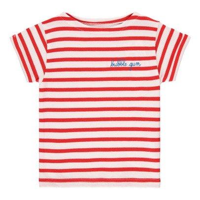 Maison Labiche T-Shirt Brodé Rayé Bubble Gum-listing