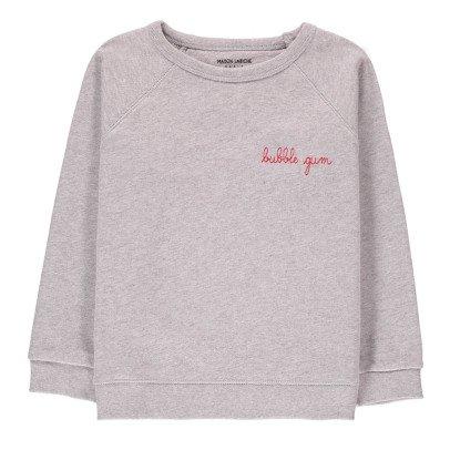 Maison Labiche Sweatshirt Bubble Gum bestickt  Grau Meliert-listing