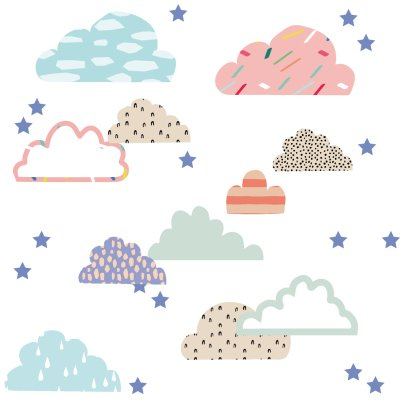 MIMI'lou Sticker Just a touch Wolke-listing