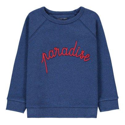 Maison Labiche Paradise Embroidered Sweatshirt Blue-listing