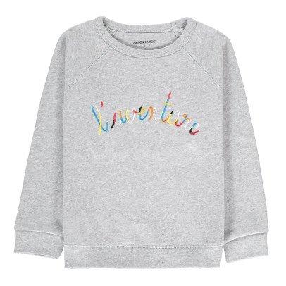 Maison Labiche Adventure Embroidered Sweatshirt Heather grey-listing