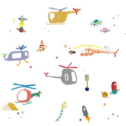 MIMI'lou Air Traffic Stickers-listing