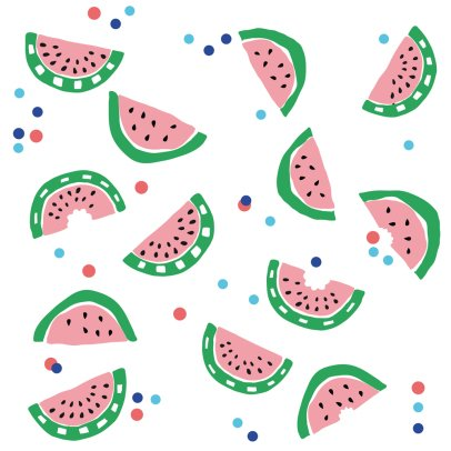 MIMI'lou Sticker Just a touch Wassermelone-listing