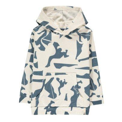 POPUPSHOP Sweatshirt mit Kapuze Grafik aus Bio-Baumwolle -listing