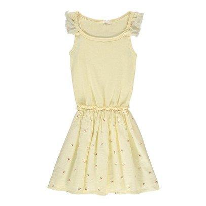Buho Vestido Bi-tejido Cerezas Mae-listing