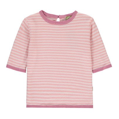 Nui Dottie Striped Organic Cotton Knit T-Shirt-listing