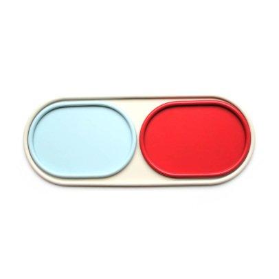Hartô Conjunto de bandejas Leon Gris claro, naranja, azul claro-listing