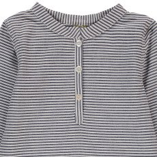 Nui Cove Chambray Striped Organic Cotton Kurta-listing