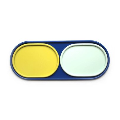 Hartô Conjunto de bandejas Leon azul, amarillo, verde pastel-listing