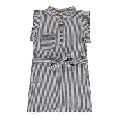 Nui Heidi Chambray Striped Organic Cotton Dress-listing