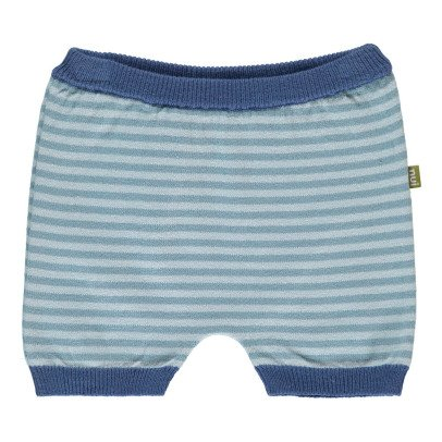 Nui Bettie Striped Organic Cotton Knit Bloomers-listing